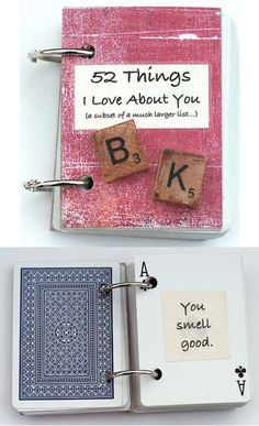 52 things I love about you    I'm totally making this for my hubby!