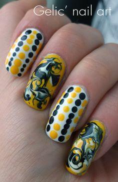 Gelic' nail art: Marimekko inspired nail art