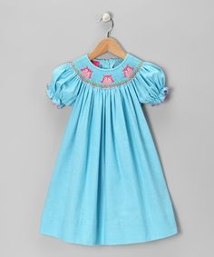 Take a look at this Blue Owl Bishop Dress - Girls on zulily today!