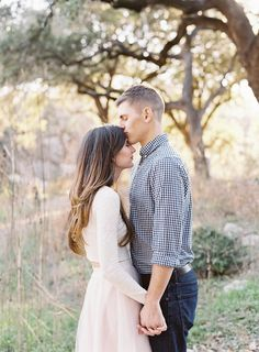 Emilie and Brandon's Creekside Engagement Session   Mint Photography   Wedding Sparrow