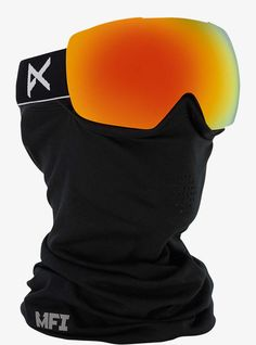 The pioneer of integrated full-face protection. The men's anon. MIG goggle features Magnetic Facemask Integration (MFI) that seals your anon. MFI facemask to th Best Ski Goggles, Helmet Design, Snowboarding, Skiing, Red, Black, Clarity, Technology, Frame