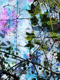 een schilderij van Chris Cozen, mixed media