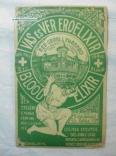 Old Medicine Bottle Label For Blood Tonic Elixir Red Cross Pharmacy Cleveland Oh Photos and Information in AncientPoint Old Medicine Bottles, Antique Locket, Vintage Labels, Vintage Ephemera, Vintage Ads, Vintage Patches, Red Cross, Bottle Labels, Victorian Era