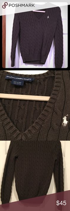 Ralph Lauren Sweater Authentic  Only worn a few times  Great quality just not a good color on me   Size Medium Ralph Lauren Tops