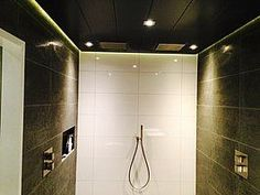 Led strips in douche Led Strip, Strips, Bathtub, Bathroom, Modern, Shower, Standing Bath, Washroom, Bathtubs
