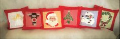 Applique Christmas cushions £20 each available from my Facebook page https://www.facebook.com/ke.shuni