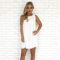 Next To Me Shift Dress in White