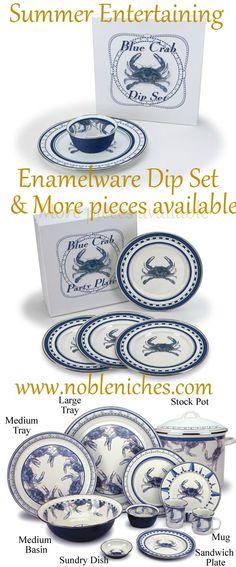 ღღ Crab dip anyone? Our enamelware entertaining pieces are super high quality and durable. Can go from oven to table to dishwasher.