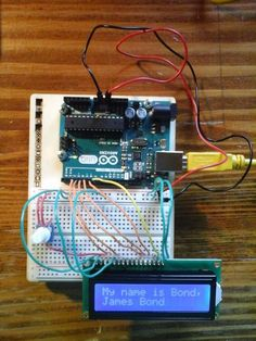 Let& learn how to use an LCD (Liquid Crystal Display) with an Arduino board. Arduino Lcd, Arduino Programming, Arduino Board, Electronics Projects, Electronics Gadgets, Lcd Keypad Shield, Liquid Crystal Display, Thermometer, Arduino Projects