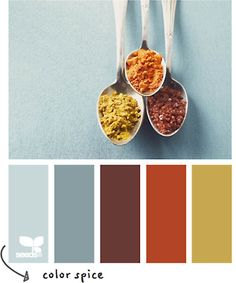 I adore these colors from design seeds via apartment therapy