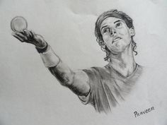 nadal - Sketching by Praveen Kumar in sketches at touchtalent 79063