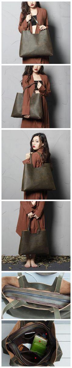 HANDMADE TOP GRAIN LEATHER TOTE BAG SHOULDER BAG SHOPPING BAG LEATHER GOODS FOR WOMEN LEATHER GOOD DESIGN FOR WOEN