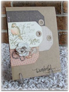 card by Tamytha Jenkins using CTMH Buzz and Bumble paper