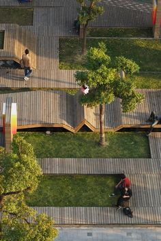 Kic Park Urban landscape in Shanghai. Il Kic Park è un parco urbano… Landscape And Urbanism, Landscape Architecture Design, Landscape Plans, Urban Landscape, Architecture Jobs, Park Landscape, Minimalist Landscape, Architecture Interiors, Contemporary Architecture