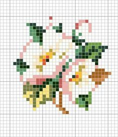 I could so use this for a pixel art crochet blanket. Mini Cross Stitch, Cross Stitch Cards, Cross Stitch Rose, Cross Stitch Flowers, Cross Stitching, Cross Stitch Embroidery, Embroidery Patterns, Cross Stitch Designs, Cross Stitch Patterns