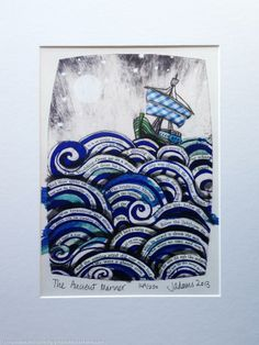 The Ancient Mariner by Jane Adams. Seascape, Semi-abstract, Giclee Print.