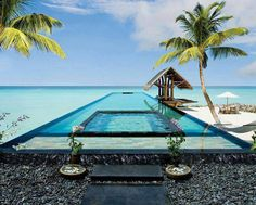 Breathtaking Villa Retreat In Maldives. proud to say Maldives is my my home country. ♥ do come visit Maldives. sunny side of life ; Amazing Swimming Pools, Cool Pools, Dream Vacations, Vacation Spots, Vacation Packages, Beautiful Hotels, Beautiful Places, Beautiful Beach, Simply Beautiful