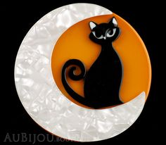 Erstwilder Cat Pin Brooch Cara the Halloween Kitty