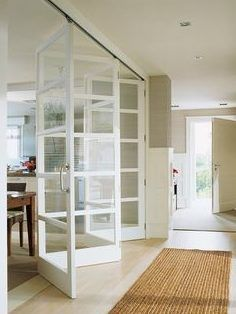 1000 ideas about cloison amovible atelier on Home Interior Design, Interior And Exterior, Room Interior, Door Design, House Design, Accordion Doors, Room Divider Doors, Room Dividers, Internal Doors