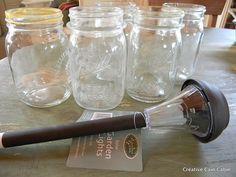 Solar mason jar lamps