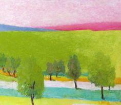 "Wolf Kahn, ""On the Kafka Place"", 2012, Oil on canvas, 52 x 60 inches."