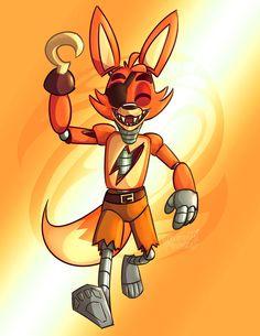 Here comes joyful Foxy by Zxz328 on DeviantArt