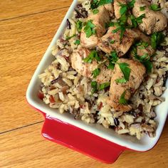 Quick and easy weeknight chicken dish full of bright flavors - perfect on rice or served in a pita, salad or dipped with hummus.