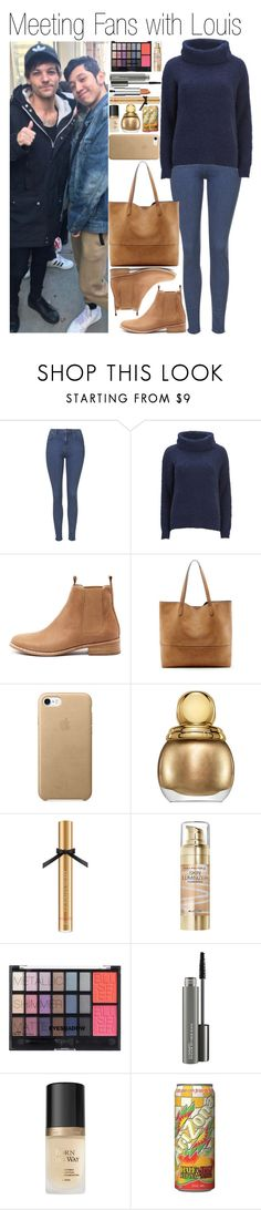 """""""• Meeting Fans with Louis"""" by dianasf ❤ liked on Polyvore featuring Topshop, GET LOST, Great Plains, Mollini, Sole Society, Christian Dior, Victoria's Secret, Max Factor, H&M and Maybelline"""
