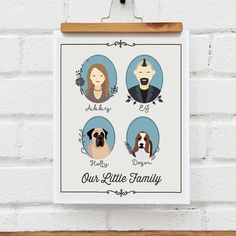 Mother's Day for Grandma Illustrated Family by NearAndDearDesigns