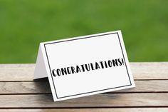Congratulations Blank Card/Graduation Card /Anniversary Card/Wedding Card/Engagement Card/Newborn Baby Card/Retirement Card/