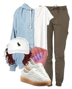 """877"" by tuhlayjuh ❤ liked on Polyvore featuring H&M and Puma"