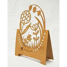 Lasercut card - Little Garden. $8.50, via Etsy.