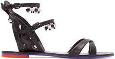 Sophia Webster Black Leather Nereida Sandals shoe porn