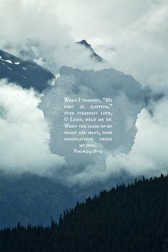 Psalm 94:18&19