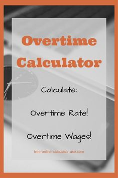 Semi Monthly Timesheet Calculator with Overtime Calculations     Semi Monthly Timesheet Calculator with Overtime Calculations   Personal  Financial Freedom   Pinterest   Calculator