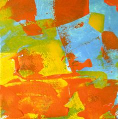 Abstract art original painting is a Color Blast by PetrocyStudios, $10.00