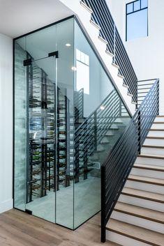 Under Stairs Wine Cellar, Wine Cellar Basement, Wine Cellar Racks, Glass Wine Cellar, Home Wine Cellars, Wine Cellar Design, Wine Cellar Modern, Room Under Stairs, Wine Wall