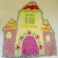 KIDS CHILDRENS FAIRY PRINCESS TOWER RUG MAT 60CM X 60CM:Amazon:Everything Else