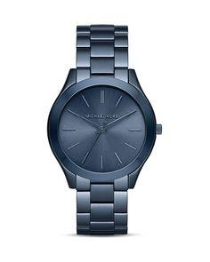 Michael Kors Slim Runway Navy Watch, 42mm
