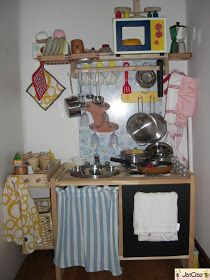 Ikea hack - Jencrea & Stregatti - creazioni di tutto e un pò: Come realizzare una cucina giocattolo da un comodino Ikea