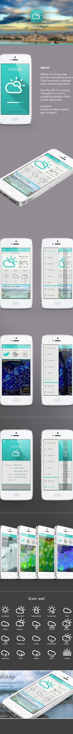 Időkép - weather app redesign by Attila Szabó