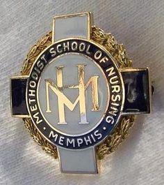 Methodist Hospital School of Nursing Graduatipn Pin 1953 (Memphis)