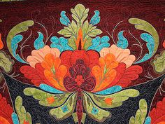 Bodacious Quilts from Jane Blair Quilts - Still Crazy After All These Years Applique Patterns, Applique Quilts, Quilt Patterns, Bright Quilts, Hawaiian Quilts, Flower Quilts, Contemporary Quilts, Button Art, Quilt Making