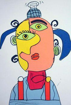 Artsonia Art Museum (Cedar Creek)   Paper cut Picassos!