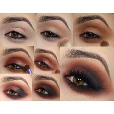 bronze,brown,black smokey eyes , i love the way this is still a smokey eye  but with out it being waaaaay too heavy like others I've seen. | Makeup ...