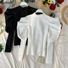 Sleeves Designs For Dresses, Fancy Blouse Designs, Modern Hijab Fashion, Korean Fashion, Stylish Dresses For Girls, Fashion Outfits, Clothes For Women, Color Black, Style
