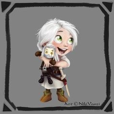 Little Heroes - Ciri (reboot) The very firts Lil`Hero I created was Ciri however I did not know that time she was going to be the first artwork in a long run project, I had an idea and I put in...