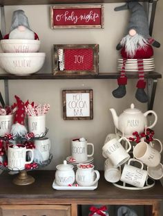 If i had a coffee bar, I would decorate it as a hot chocolate bar for the holidays.