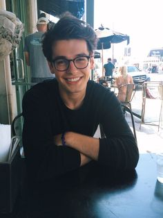 Awee or when guys wear cute nerdy glasses just for fun that's cute