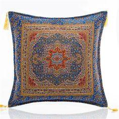 Saray Ornate Cushion Cover, Blue